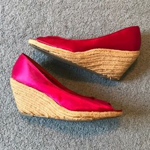 Hot Fuscia Pink Wedges